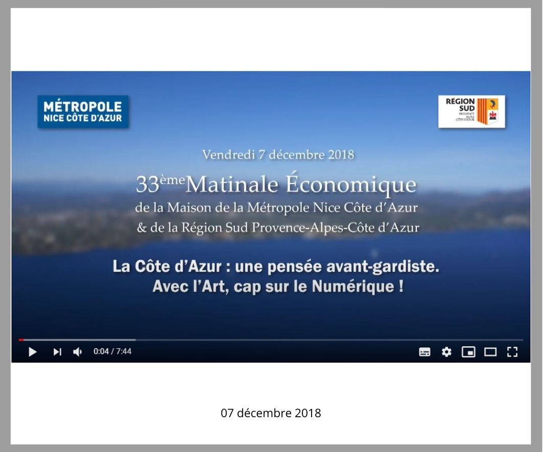 33ème matinale économique de la Métropole Nice Côte d'Azur