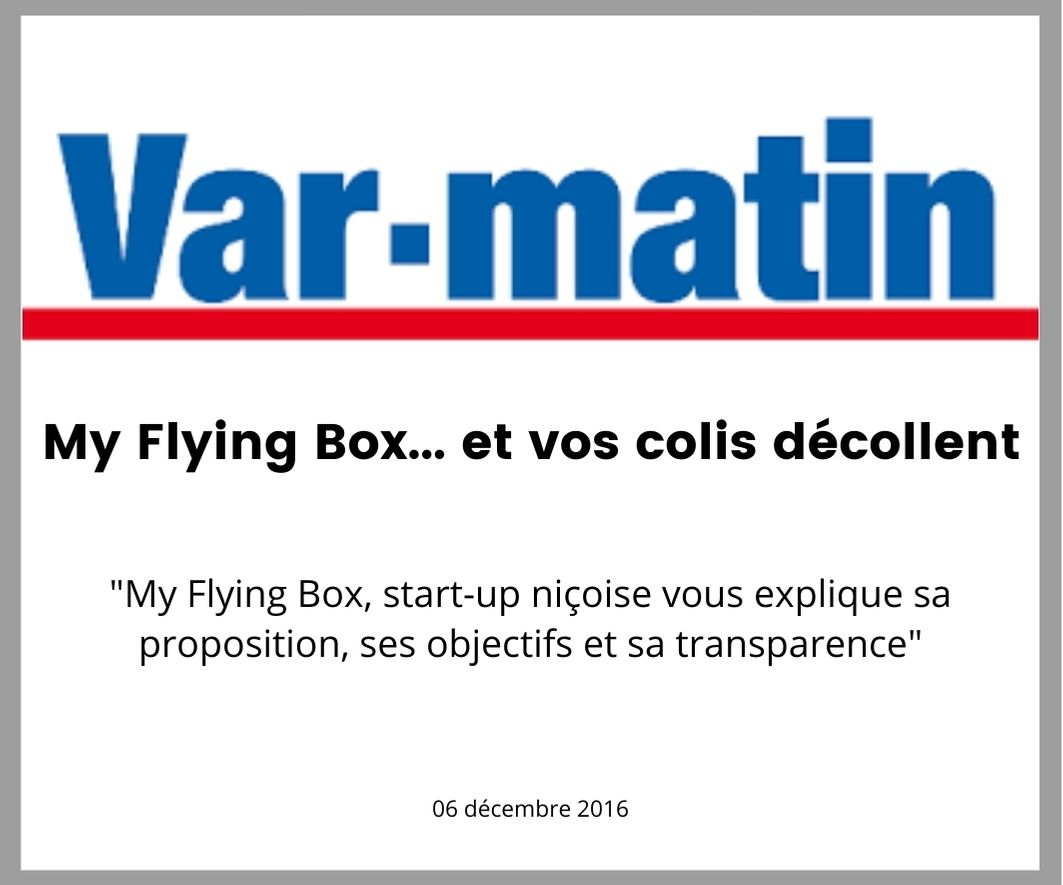 var matin parle de my flying box