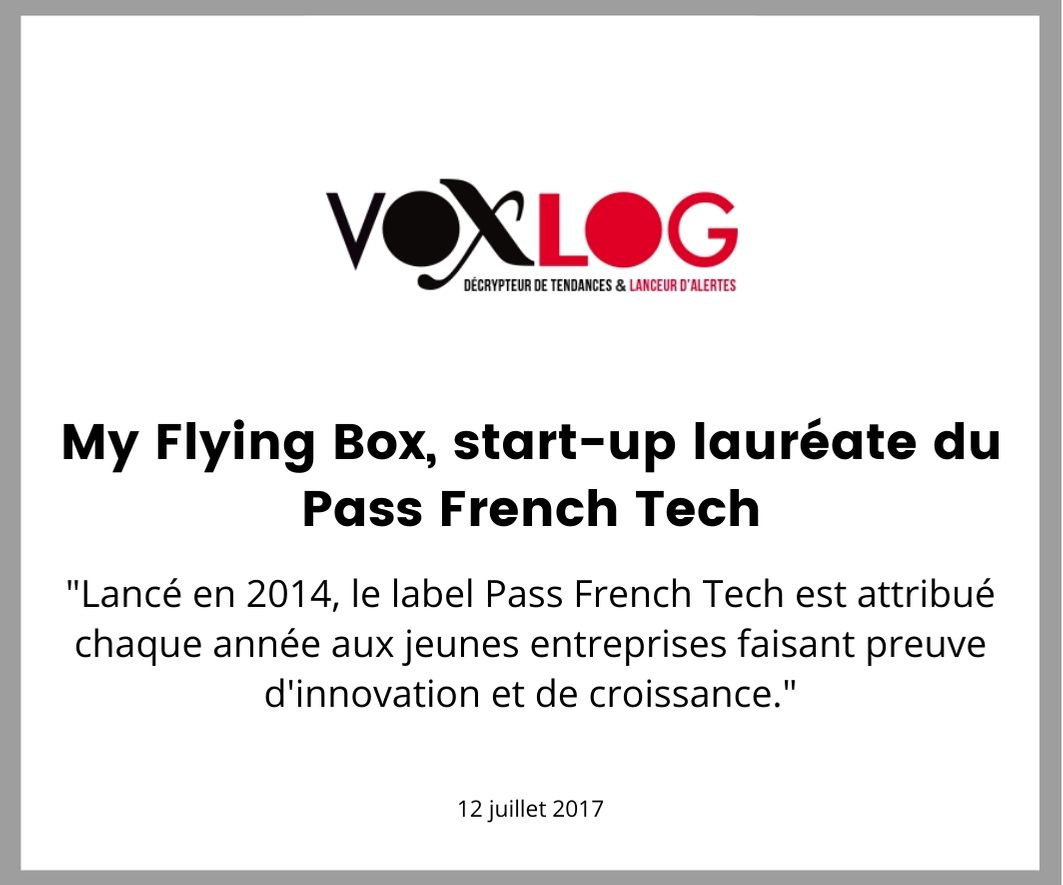 VoxLog evoque le french pass tech de my flying box